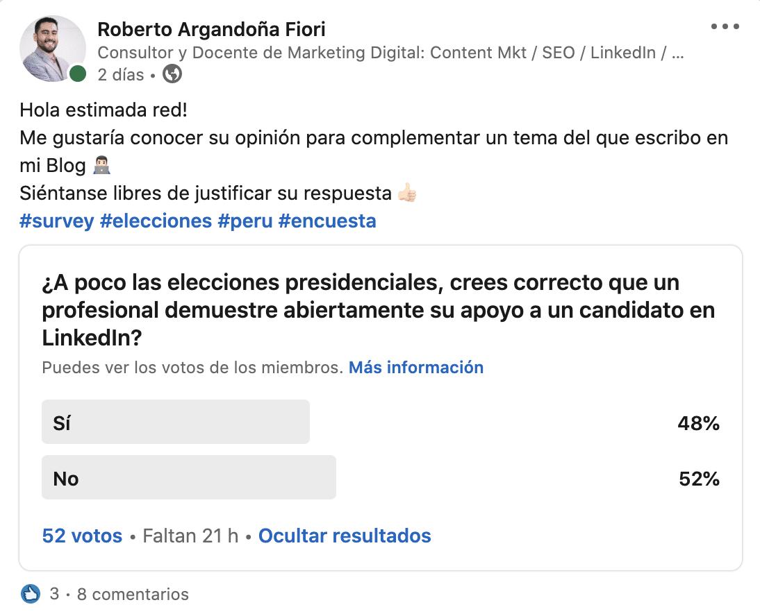Roberto-Argandoña-Encuesta-Linkedin-política